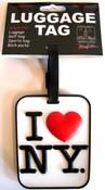 I Love NY Luggage Tag - White