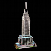 Empire State Building Crystal Figurine - 7 Inch