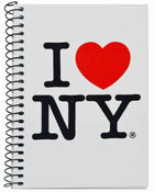 I Love NY White Notebook
