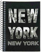 NY Skyline Letters Notebook
