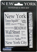 NYC Landmarks Black Letters Notepad and Pen