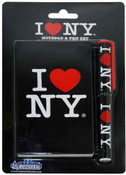 I Love NY Black Notepad and Pen
