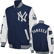 "Yankees ""Final Out"" Commemorative Canvas Varsity Jacket"