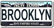 Brooklyn NY License Plate