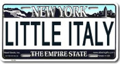 Little Italy NY License Plate