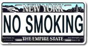 No Smoking NY License Plate