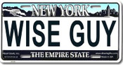 Wise Guy NY License Plate