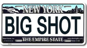 Big Shot NY License Plate