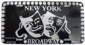 Broadway Masks Black License Plate