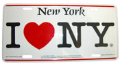 I Love NY License Plate - White