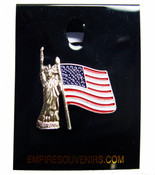 Lady Liberty with Flag Pin