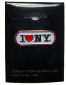 I Love NY White Banner Pin
