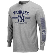 "Yankees ""Added Value"" Grey Mens Long Sleeve T-Shirt"