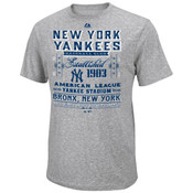 "Yankees ""Fireballer"" Grey Mens Fashion T-Shirt"