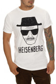 "Breaking Bad ""Heisenberg"" White Adult T-Shirt"