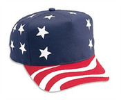 American Flag Retro Snapback Adjustable Cap