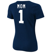 Yankees Mom Name & Number Ladies T-shirt