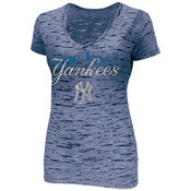 "Yankees ""Long Shot"" Navy Ladies Fitted Tee"
