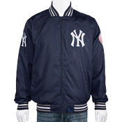 NY Yankees Ripstop Hooded Light Weight Jacket - Front
