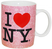 I Love NY Pink Distressed 11oz. Mug