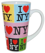 I Love NY Collage 16oz. Java Mug