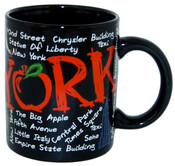 "NYC ""Scribble"" Black 4oz Mini Mug"