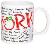 """NYC """"Scribble"""" White 11oz Mug"""