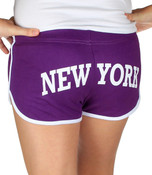 New York City Purple Hi-Cut Shorts - back