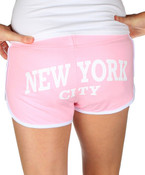 New York City Pink Hi-Cut Shorts - back