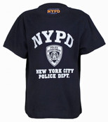 NYPD Full Chest Navy Kids Tee