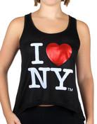 I Love NY Flowy Tank - black
