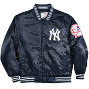 Yankees Youth Satin Dugout Jacket -front