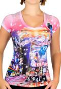 I Dream of Times Square Ladies T-Shirt