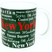 NYC Landmarks Red New York 11 oz Mug