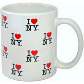 I Love NY Repeat White 11 oz Mug