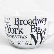NYC Landmarks Porcelain Soup Mug - White