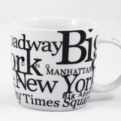 NYC Landmarks Porcelain 12 oz Mug - White
