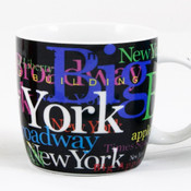 NYC Hotspots Porcelain 12 oz Mug - Black