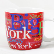 NYC Hotspots Porcelain 12 oz Mug - Red