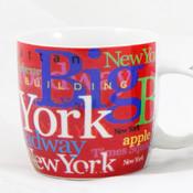 NYC Hotspots Porcelain 12 oz Mug - Red