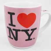 I Love NY Porcelain Espresso 4oz Mug - Pink