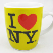 I Love NY Porcelain Espresso 4oz Mug - Yellow