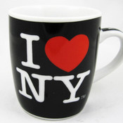 I Love NY Porcelain Espresso 4oz Mug - Black