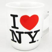 I Love NY Porcelain Espresso 4oz Mug - White
