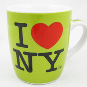 I Love NY Porcelain Espresso 4oz Mug - Green