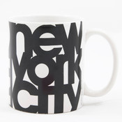 New York City Bold 11 oz Mug - White
