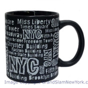 NYC Location Script Matte 11oz Mug - Black