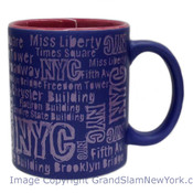 NYC Location Script Matte 11oz Mug - Purple