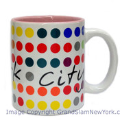NYC Polka Dots 11oz Mug - White