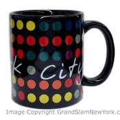 NYC Polka Dots 11oz Mug - Black